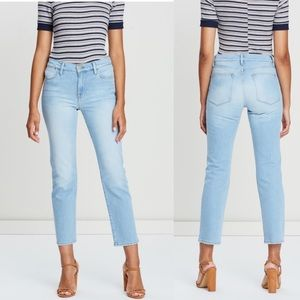 NWT FRAME Le High Straight Leg Jeans In Dovetail